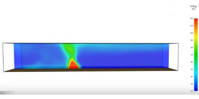 Моделирование выгорания нагрузки в PyroSim