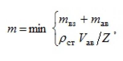 Расчет массы взвешенной пыли при определении категории помещения